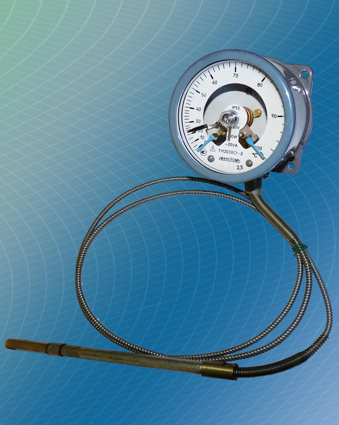 Термометры манометрические, конденсационные, показывающие и сигнализирующие